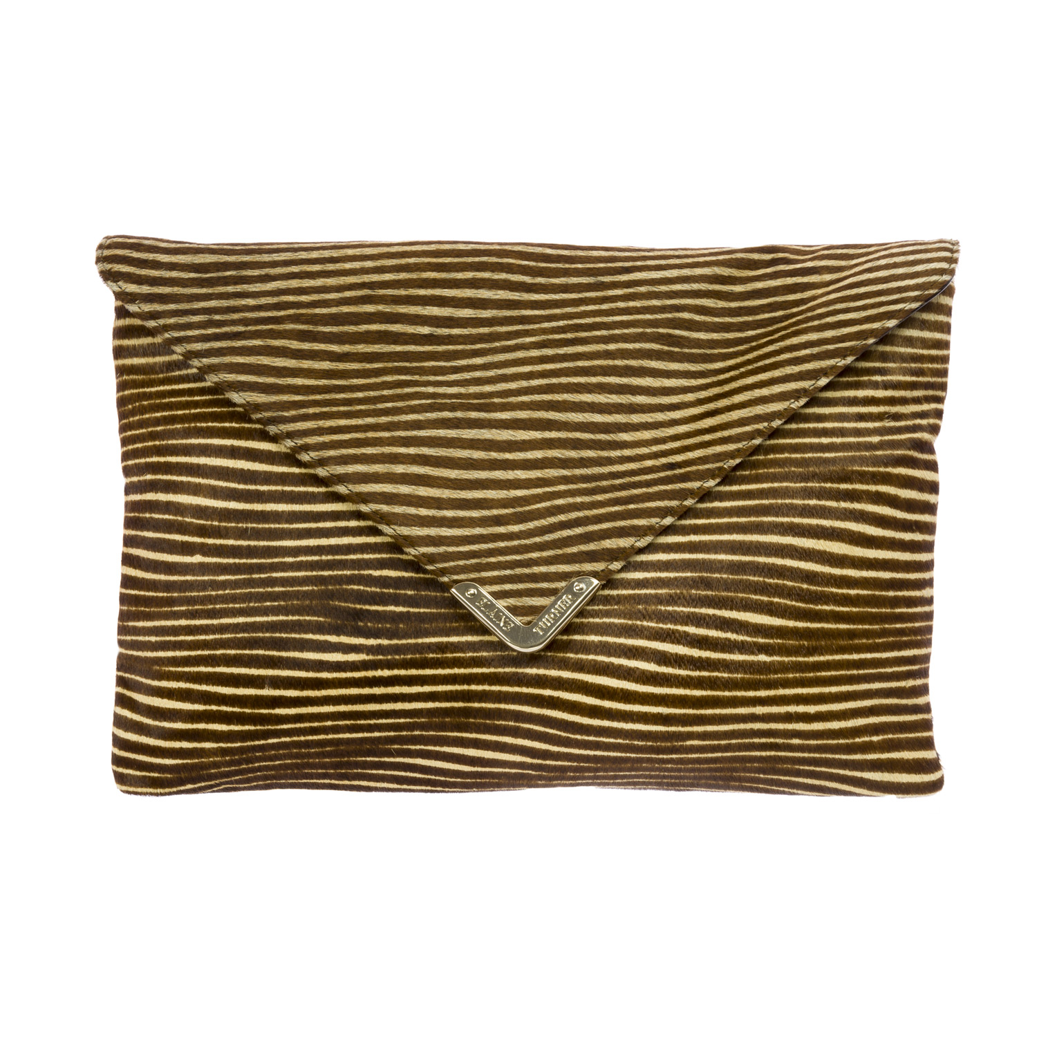 Elaine Turner Women's Calf Hair Rachel Envelope Clutch Bag One Size Optic