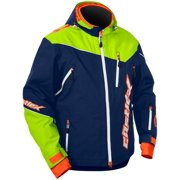 Castle X Racewear Rival Mens Snowmobile Jacket Navy/Hi-Vis