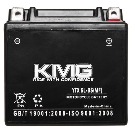 KTM 450 450SMR 2009-2012 YTX5L-BS Sealed Maintenace Free Battery High Performance 12V SMF OEM Replacement Maintenance Free Powersport Motorcycle ATV Scooter Snowmobile KMG - image 2 de 3