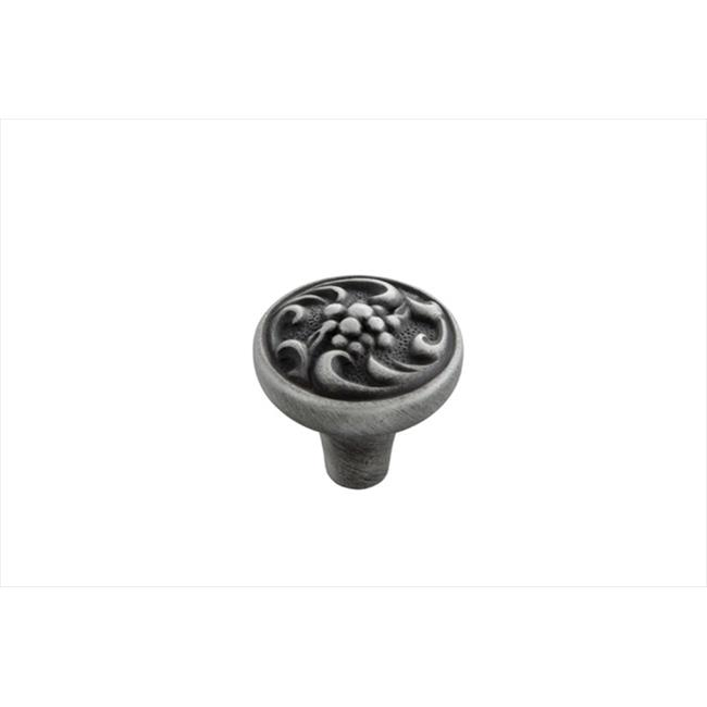 Hickory Hardware P3094-SPA 1. 25 inch Mayfair Satin Pewter Antique Cabinet Knob