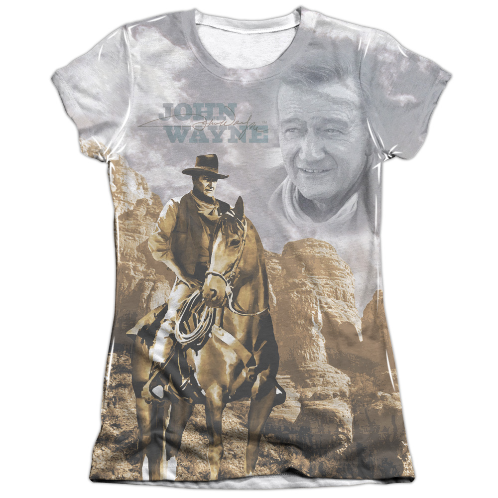 John Wayne Ride Em Cowboy Juniors Sublimation Shirt