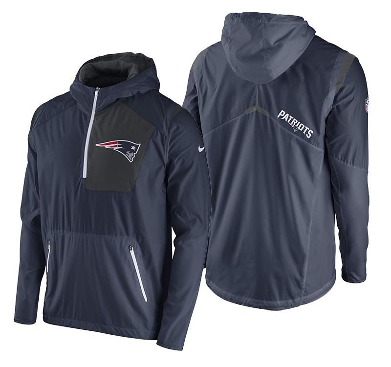 Nike New England Patriots Vapor Speed Fly Rush Men's Training Jacket 778289-419