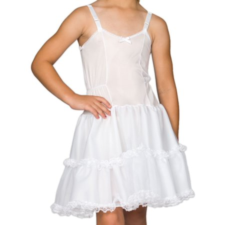 I.C. Collections Girls White Bouffant Slip Petticoat Lace Embellished, 4 - 14 (Petticoats And Slips)