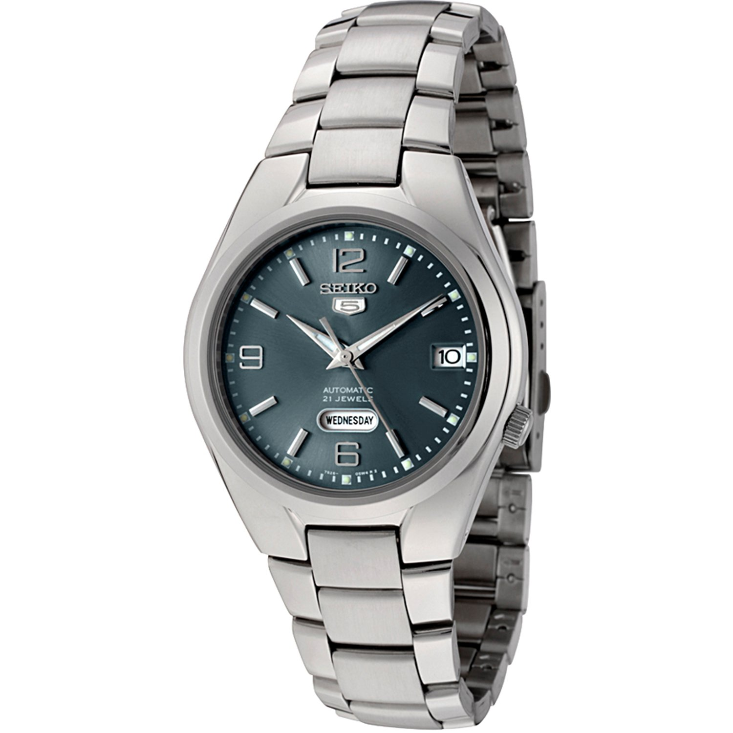 Seiko Men's 5 Automatic SNK621K Green Stainless-Steel Automatic Fashion Watch