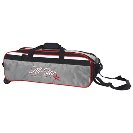 - Roto Grip 3 Ball Travel Roller Bowling Bag- All Star Edition (balls only) Black/White/Red