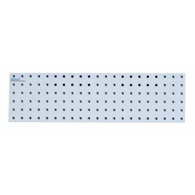 1 31.5 x 9 in. Epoxy 18 Gauge Steel Square Hole Pegboard Strip, White