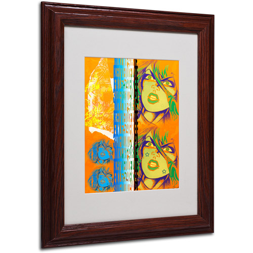 "Trademark Fine Art ""Crime in Orange"" Matted Framed Art by Miguel Paredes"