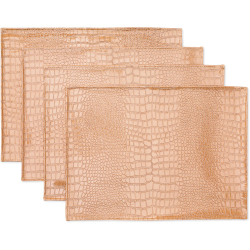 Hometrends Set of 4 Poya Placemats, Stone Khaki