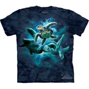 Sea Turtle Collage Adult T-Shirt 10-3288