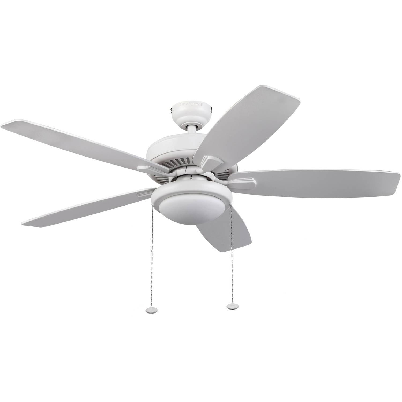 "52"" Honeywell Blufton Outdoor Ceiling Fan, White"