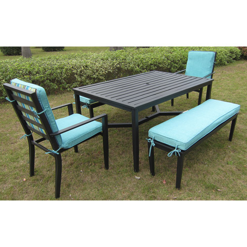 Mainstays Rockview 5 Piece Patio Dining Set Black Seats