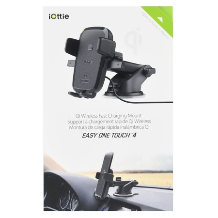 iOttie Easy One Touch Qi Wireless Fast Charge Dashboard/Windshield Mount for Samsung Galaxy S8, S7/S7 Edge, Note 8 5 & Standard Charge for iPhone X, 8/8 Plus & Qi Enabled Devices