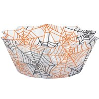 Creative Converting Spiderwebs 8 Inch Fluted Bowl