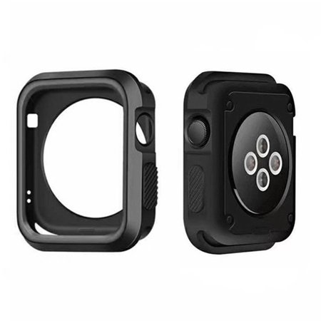 Series 4 3 2 1 protector Cover Case Screen Protector 38 42mm For Apple Watch Gray 38mm ()