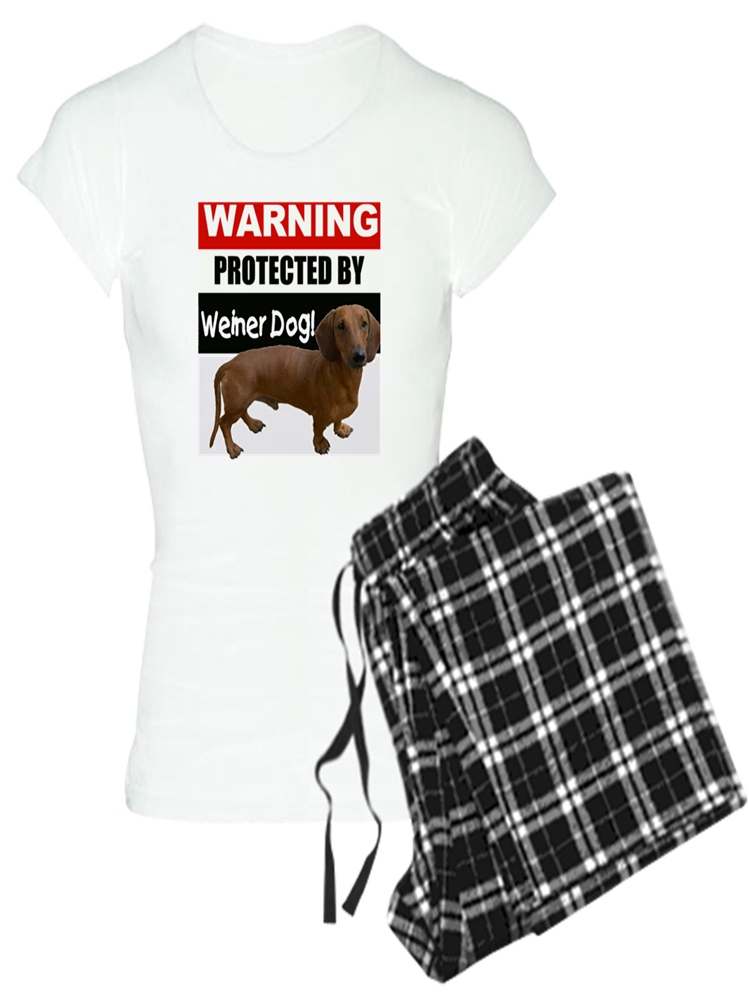 21533b7b6 CafePress - CafePress - Pro Weiner Dog - Women s Light Pajamas ...