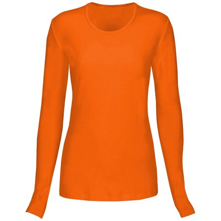 La Rose Scrub Top (T Flex Womens Comfort Long Sleeve T-Shirt Underscrub Tee Layering Shirt)