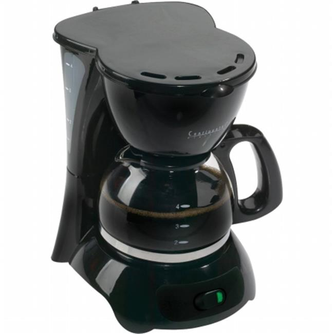 CONTINENTAL ELECTRIC CE23659 4 CUP COFFEE BLK- CE23589
