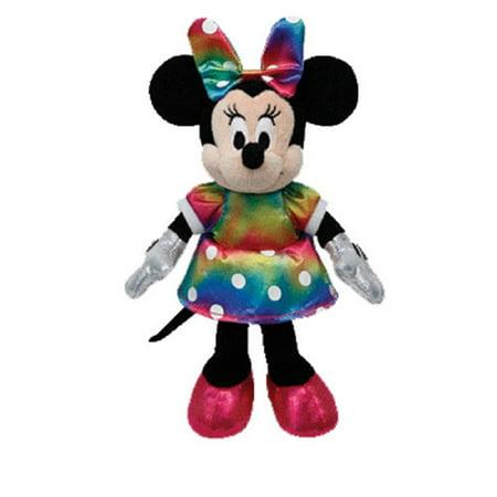 Ty Inc. Beanie Ballz Plush Stuffed Animal Disney Minnie Mouse Ty Dye (Dye Sparkle)