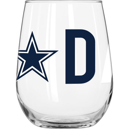 NFL Dallas Cowboys 16 oz. Overtime Curved Beverage Glass