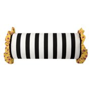 Rizzy Home Pillow Cover With Hidden Zipper In Black And Yellow