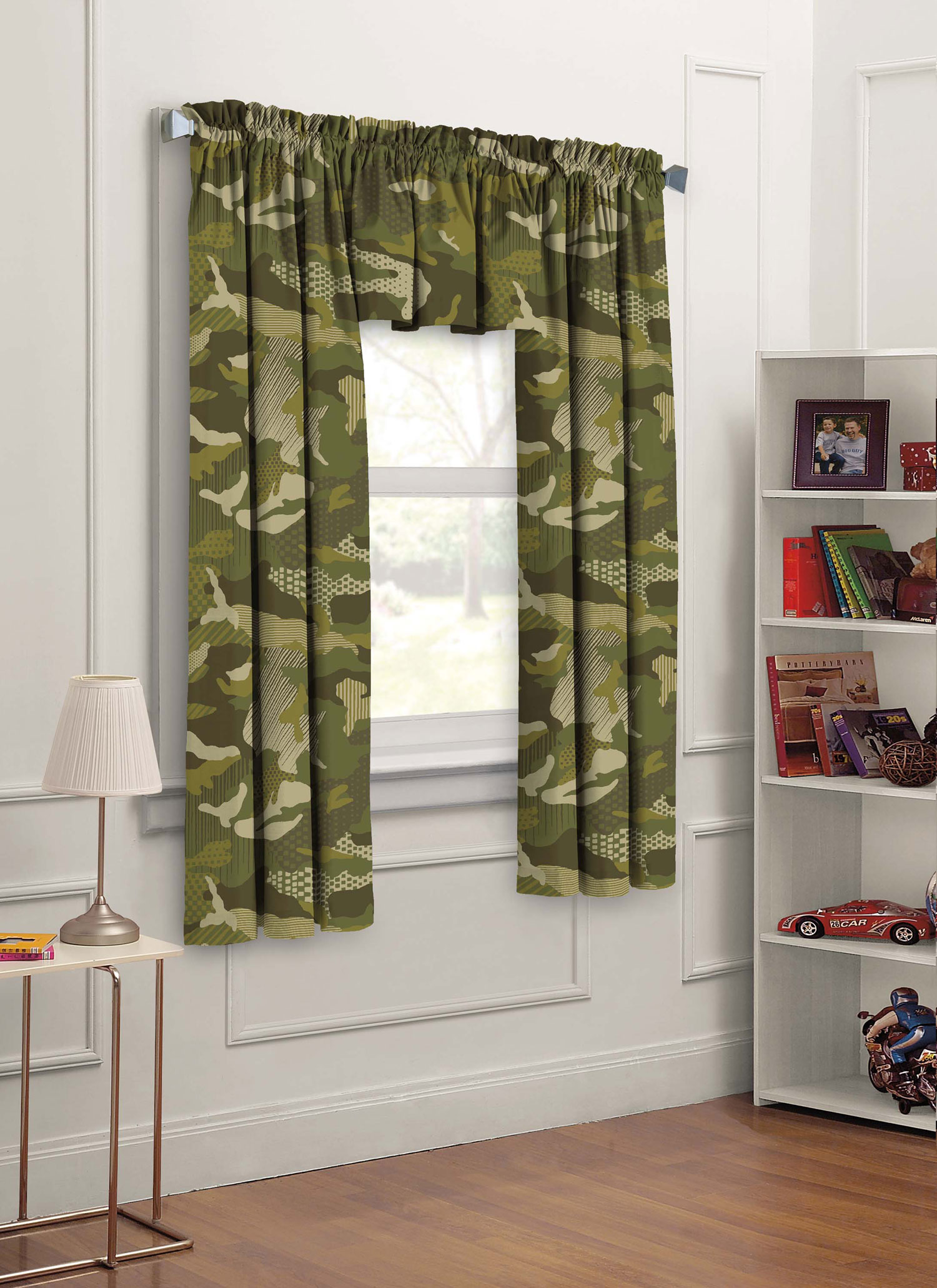 "Dream Factory Geo Camo 3-Piece 63"" Boys Bedroom Curtain Panel Set by Generic"