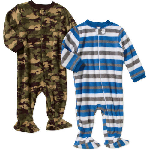 Garanimals Newborn Baby Boy Microfleece Sleep n' Plays, 2-Pack