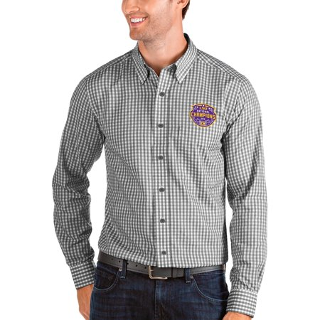 LSU Tigers Antigua College Football Playoff 2019 National Champions Structure Button-Down Long Sleeve Shirt -