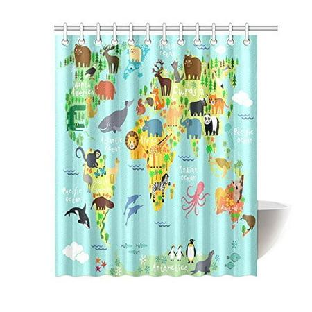 Pop Children Kids Shower Curtain Decor