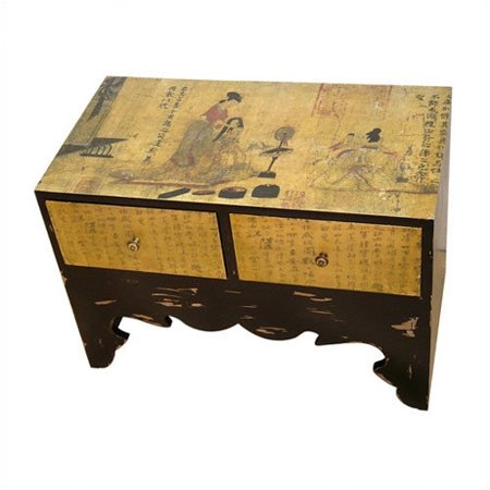 Oriental furniture traditional calligraphy end table for Asian furniture emeryville ca