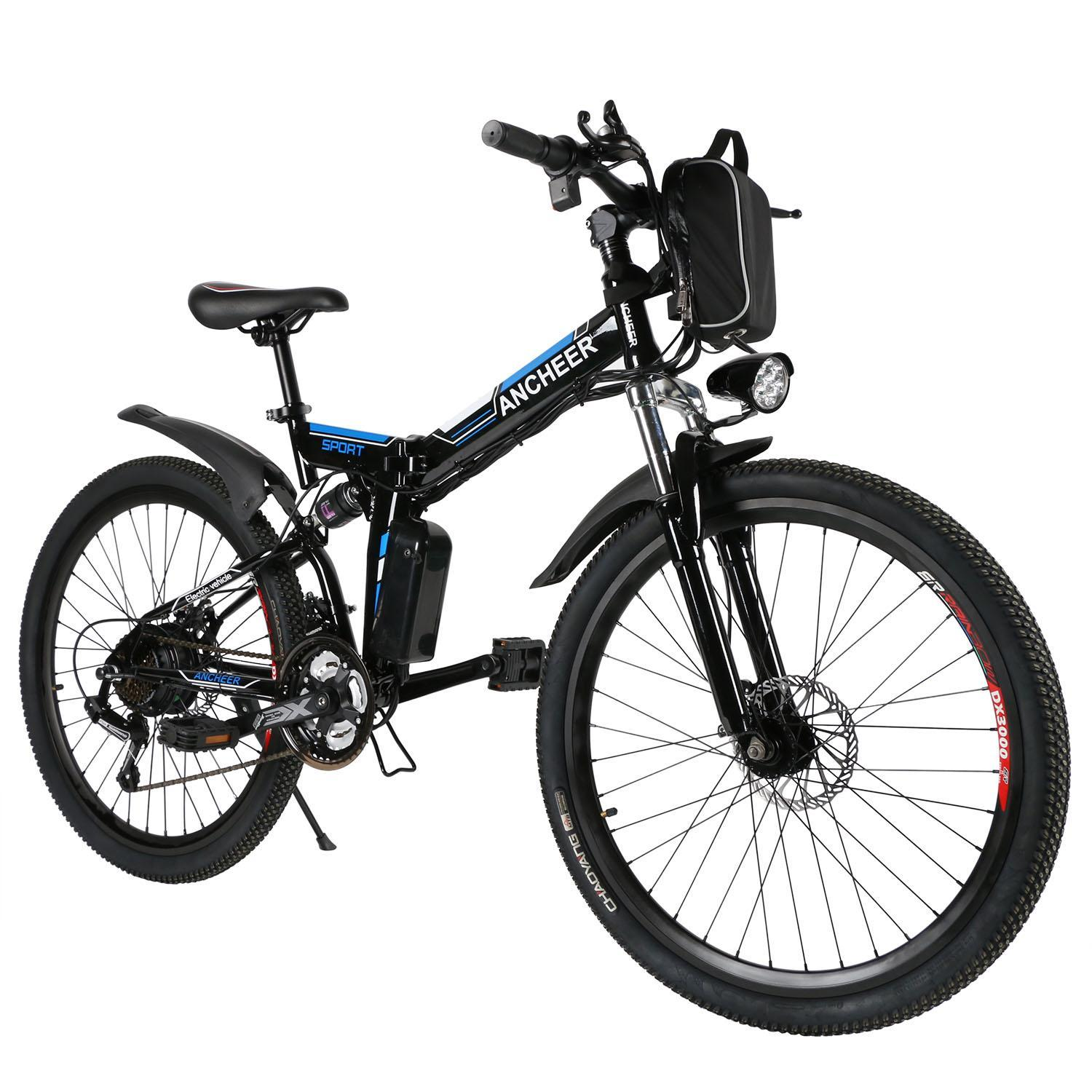 "ANCHEER 26"" 36V Folding Electric Mountain Bike With Lithium-Ion Battery Ebike Shimano Bicycle HDPML"