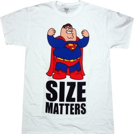 Family Guy Peter as Superman Size Matters Men's T-Shirt - Family Guy Peter Halloween