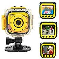 Toprui Kids 1080P Camera Waterproof Digital Video HD Sports Action Camera Portable Outdoor Learn Camcorder DV