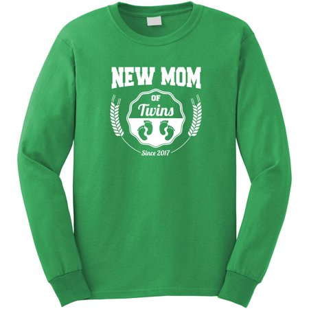 New Moms of Twins Since 2017 Long Sleeve Shirt - ID: 1760