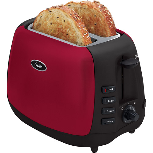 Oster Inspire 2-Slice Toaster, Metallic Red