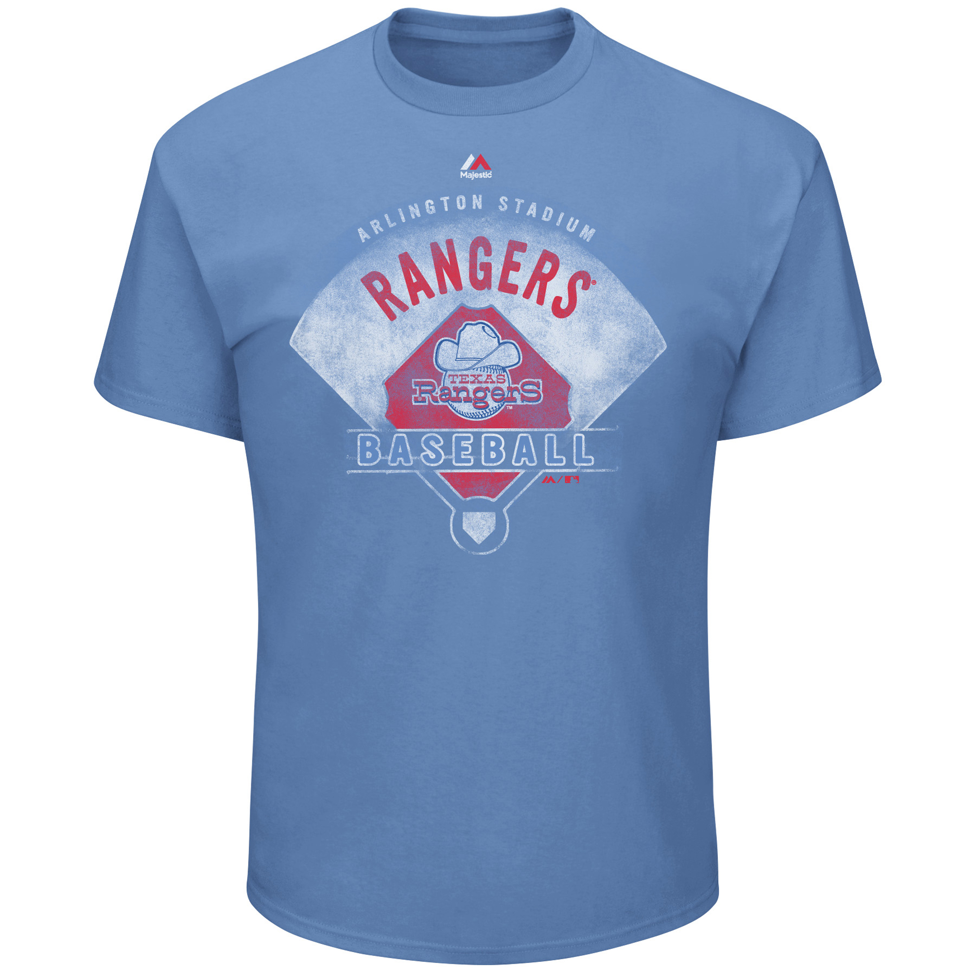 Texas Rangers Majestic Cooperstown Collection Strategic Advantage T-Shirt - Light Blue
