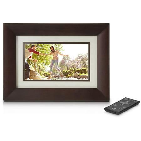 HP 7-Inch Digital Photo Frame-Espresso Brown - Walmart.com