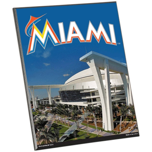 WinCraft Miami Marlins 8'' x 10'' Easel Wood Sign - No Size