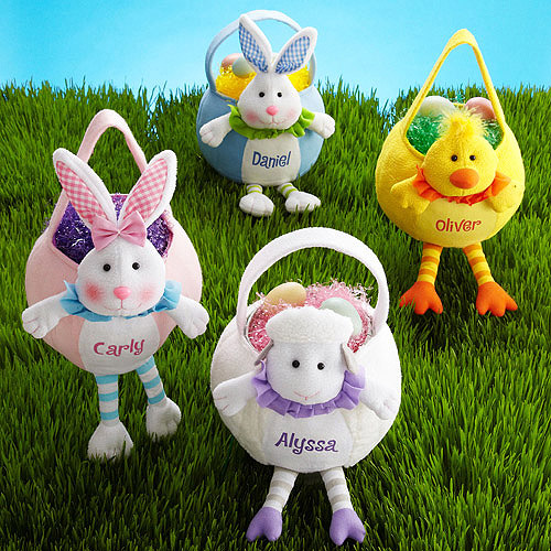 Personalized Leggy Easter Basket, Available in 4 Styles