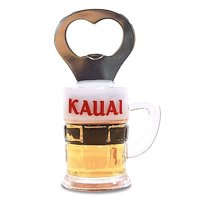 Hawaiian Kauai Mug Bottle Opener Magnet by Welcome To The Islands