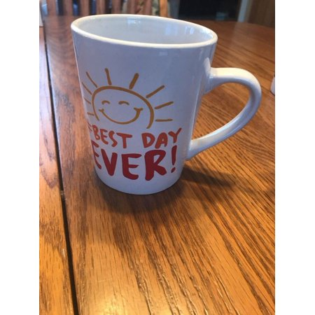 "Microwave Safe Dishwasher Safe MUG/TASSE 14fl.OZ "" # Best Day Ever! †Ships N"