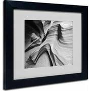 """Trademark Fine Art """"Snake Canyon"""" Matted Framed Art by Moises Levy, Black Frame"""