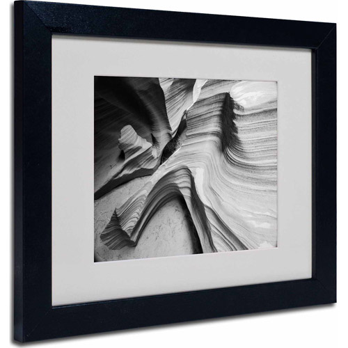 "Trademark Fine Art ""Snake Canyon"" Matted Framed Art by Moises Levy, Black Frame"
