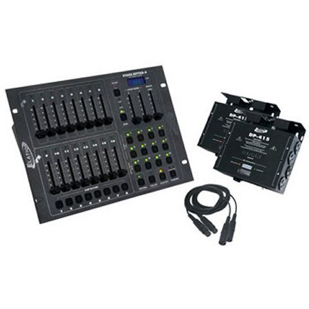 NEW! AMERICAN DJ STAGE PAK 1 Stage DMX Light 16 Ch Controller & 4 Ch Dimmer Pack