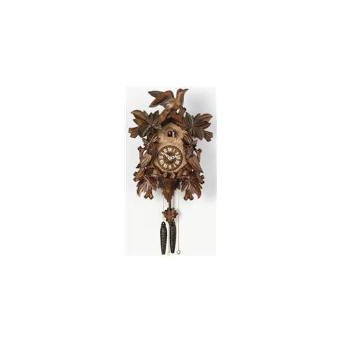 River City 13-16 16 Inch Seven Leaves Three Birds with Nest Cuckoo Clock