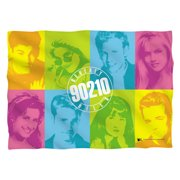 Beverly Hills 90210 Color Blocks (Front Back Print) Poly 20X28 Pillow Case White