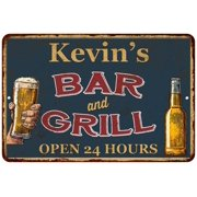 UPC 786359016465 product image for Kevin's Green Bar and Grill Personalized Metal Sign 8x12 Decor 108120044162 | upcitemdb.com