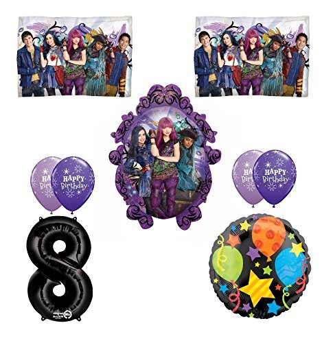 Disney The Descendants 2 Happy 8th Birthday Party supplies Balloon