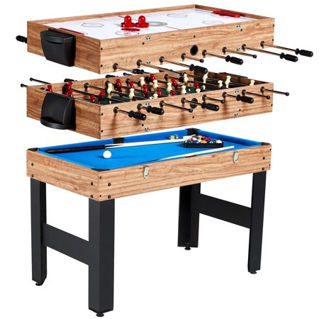 MD Sports 48 Inch 3-In-1 Combo Game Table, 3 Games with Billiards, Hockey and Foosball, accessories included ()