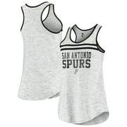San Antonio Spurs New Era Women's Team Space Dye Jersey Racerback Tank Top - Silver
