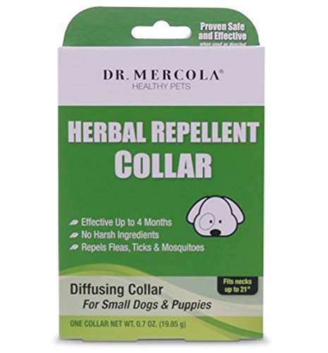 """Dr. Mercola Herbal Repellant Collar for Dogs and Puppies - Necks up to 21"""""""